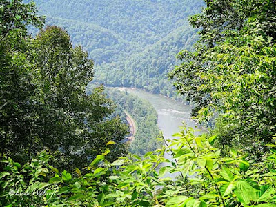 view of distant river