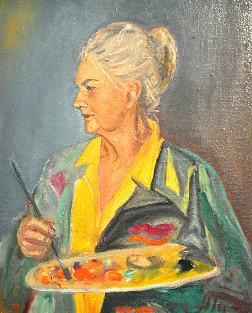 Alina Sala - Warszawa 18.07.1937 - Końskie 30.06.2013. Autoportret.