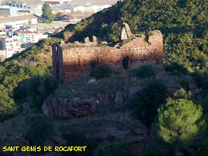 Restes de l'antic priorat benedictí de Sant Genís de Rocafort