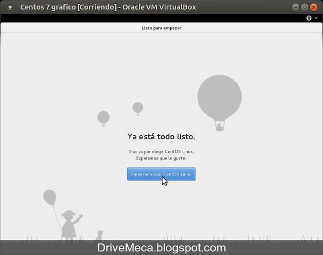 DriveMeca instalando modo gráfico en Linux Centos paso a paso