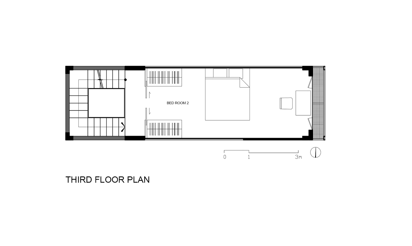 Denah Lantai 3 Rumah Sempit 3x10 Meter