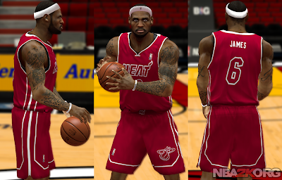 NBA 2K14 Heat Red Alternate Jersey