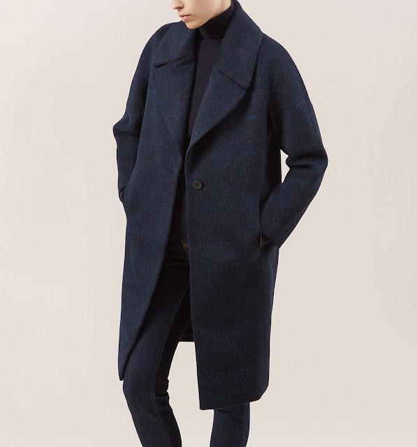 hobbs blue wool coat, hobbs navy coat, hobbs imogen coat,