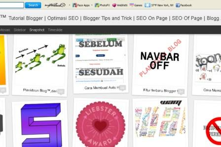 7 tampilan dinamis blogger