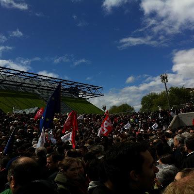 Mon meeting à #Bercy avec #FH2012