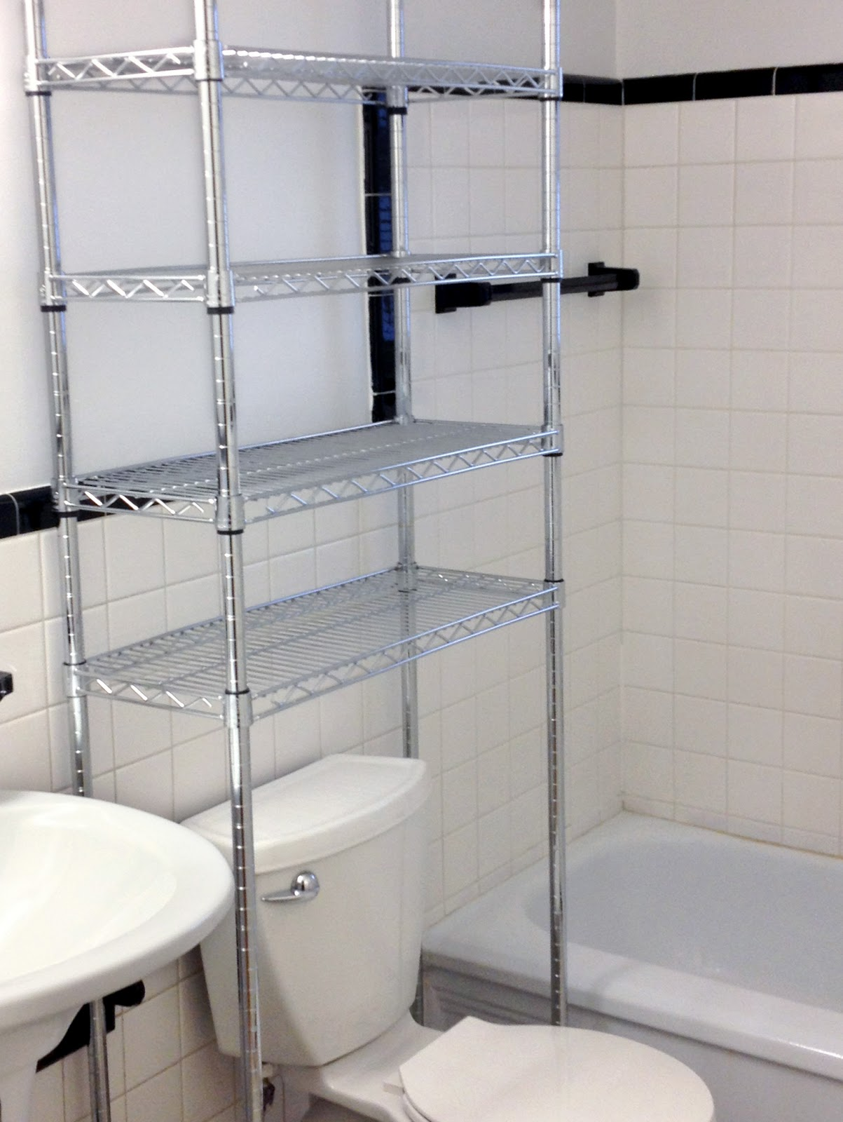 This Customer Added Tons Of Bathroom Storage With Over Toilet Wire Shelving