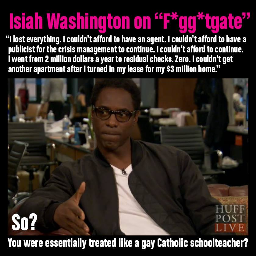 Anti gay isaiah slur washington