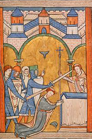 the death of thomas beckett (10) william of blois wrote a letter to pope alexander iii about the death of thomas becket (1171)  thomas beckett : oxford dictionary of national biography.