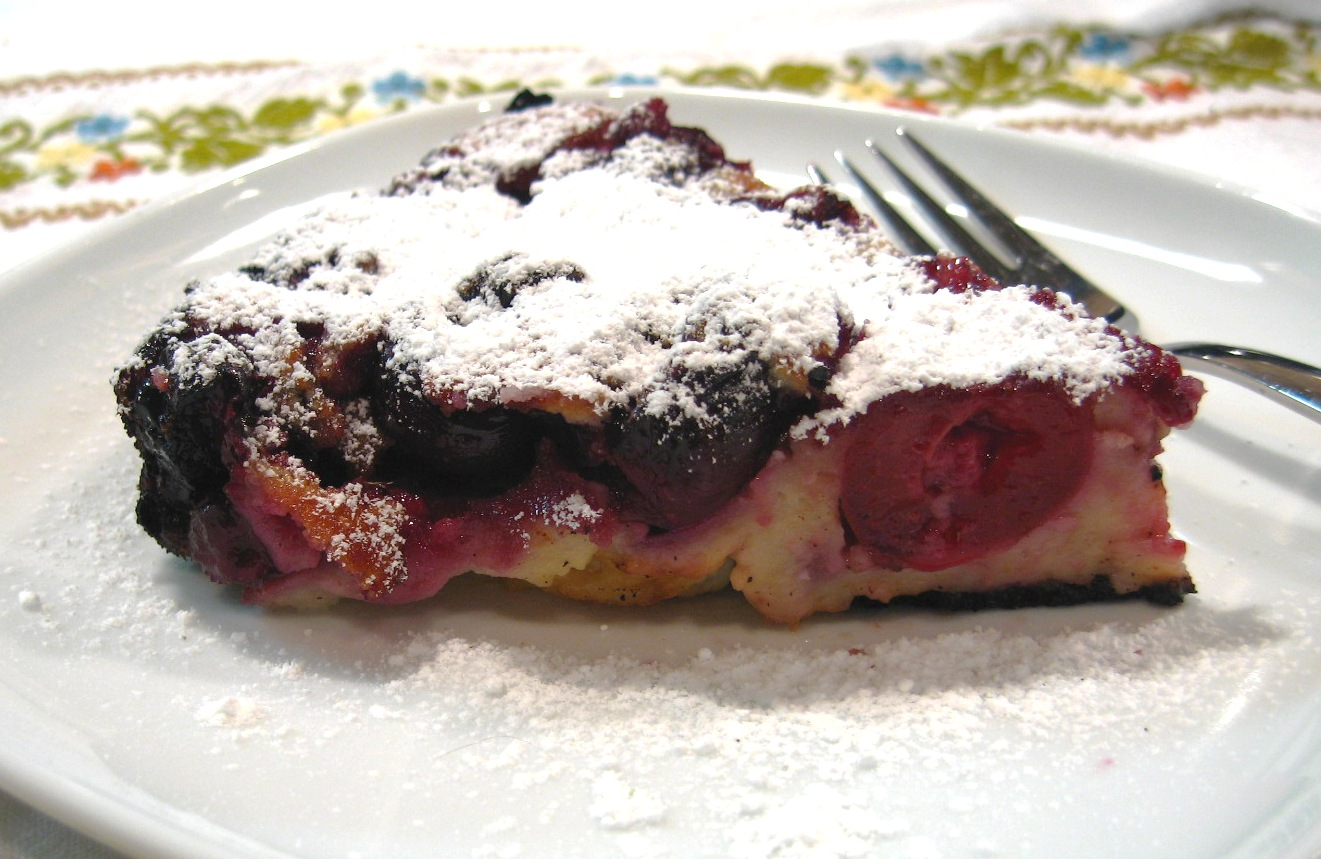 The Sensitive Epicure: Cherry Almond Clafouti (Gluten-Free)