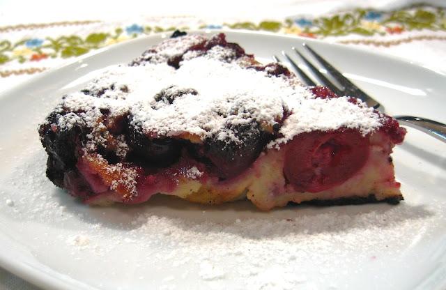 The Sensitive Epicure: Cherry Almond Clafouti (Gluten-Free)
