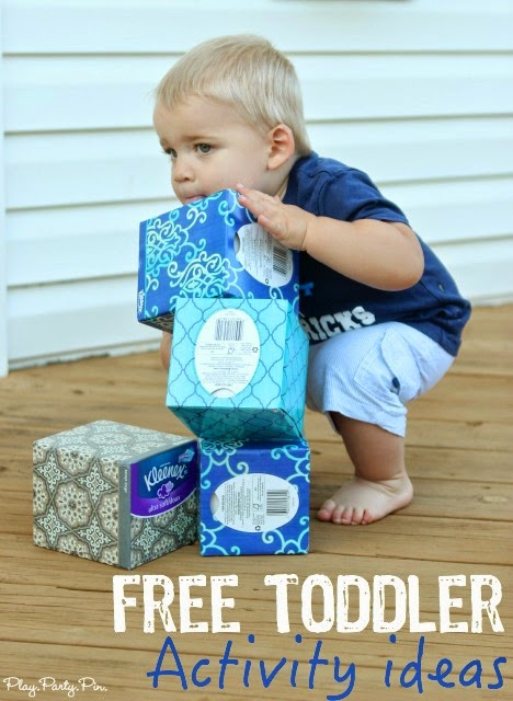 Love these fun toddler activity ideas, definitely saving my Kleenex boxes from now on! #ad