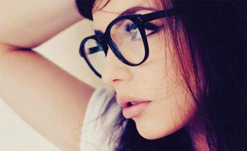 Girl face dp with glasses