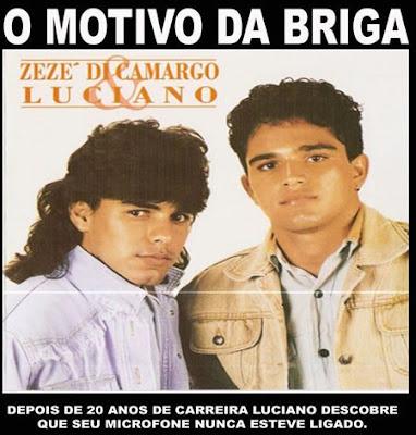 Motivo da briga entre Zezé de Camargo e Luciano