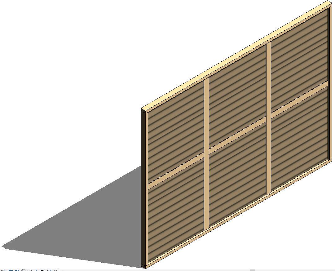 muro de madera con polines y tablones