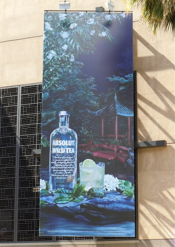 Absolut Wild Tea vodka billboard