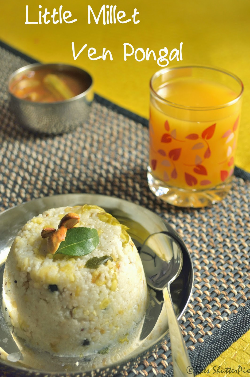 samai ven pongal recipe, little millet ven pongal recipe, Breakfast Recipes, easy millet recipe, Millet Recipes, Little Millet Recipes, ven pongal recipe with sambhar and vadai,easy ven pongal recipe, Healthy Recipes,