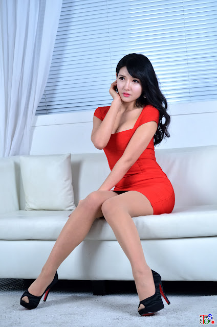 3 Hot Red - Cha Sun Hwa -Very cute asian girl - girlcute4u.blogspot.com