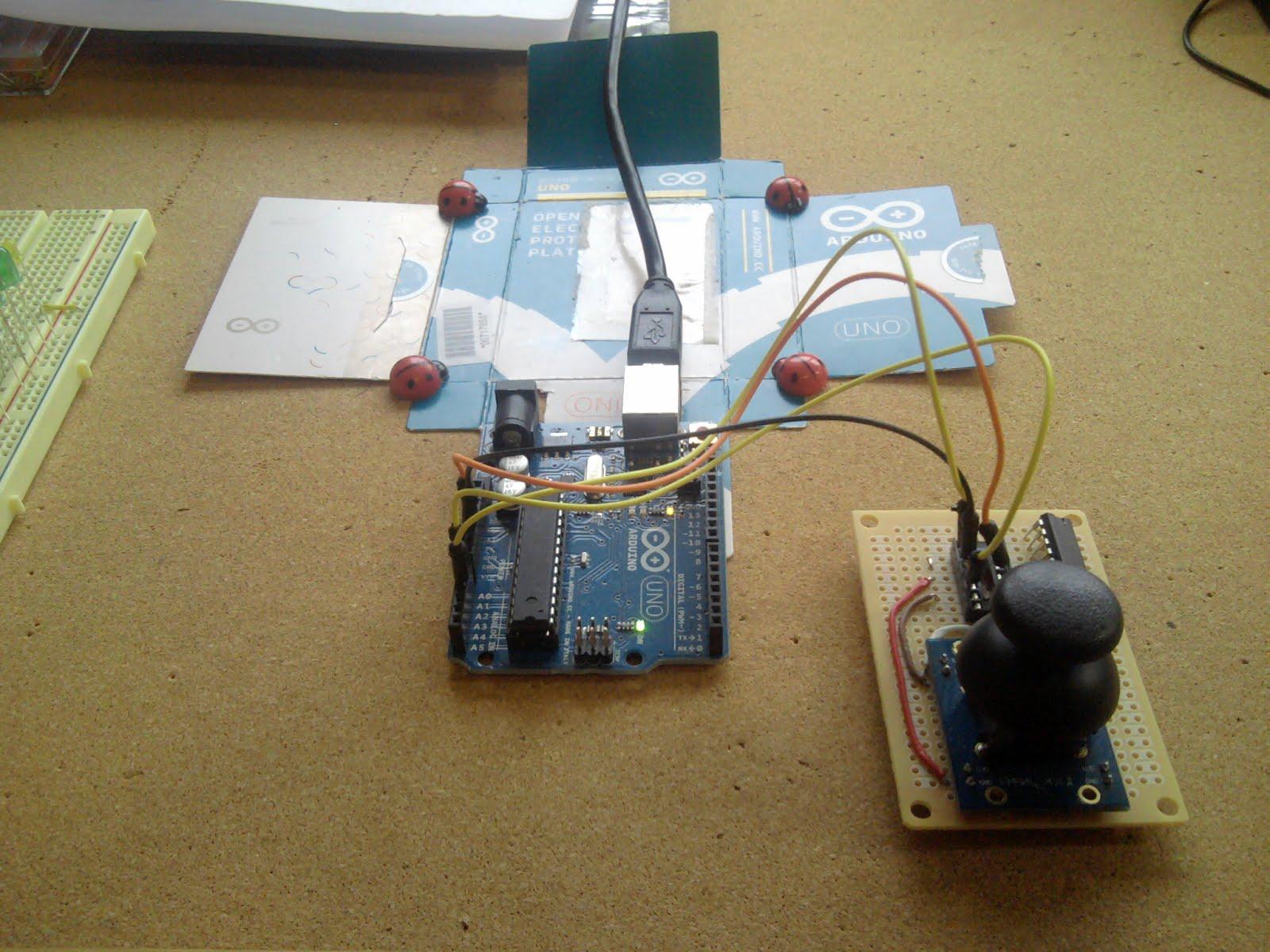 Joystick and arduino uno pigeon computer