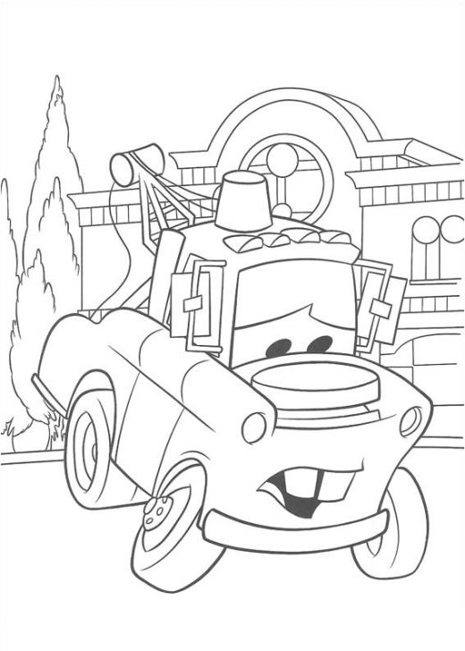 Fun Coloring Pages: Disney Cars Coloring Pages