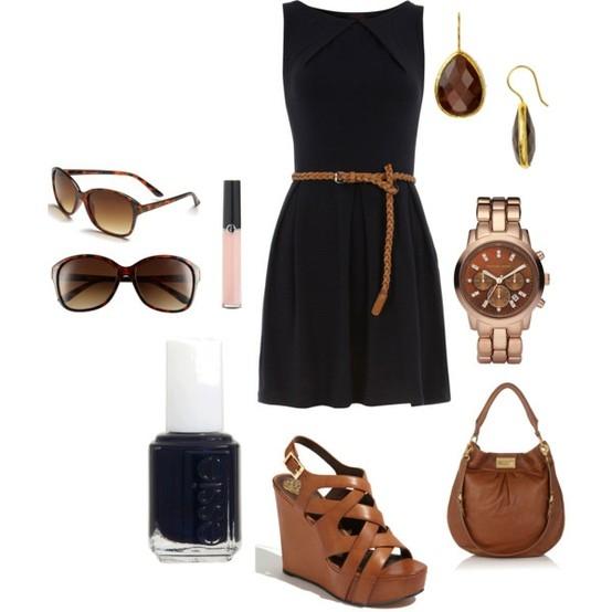 Zapatos que combinen con vestido negro corto