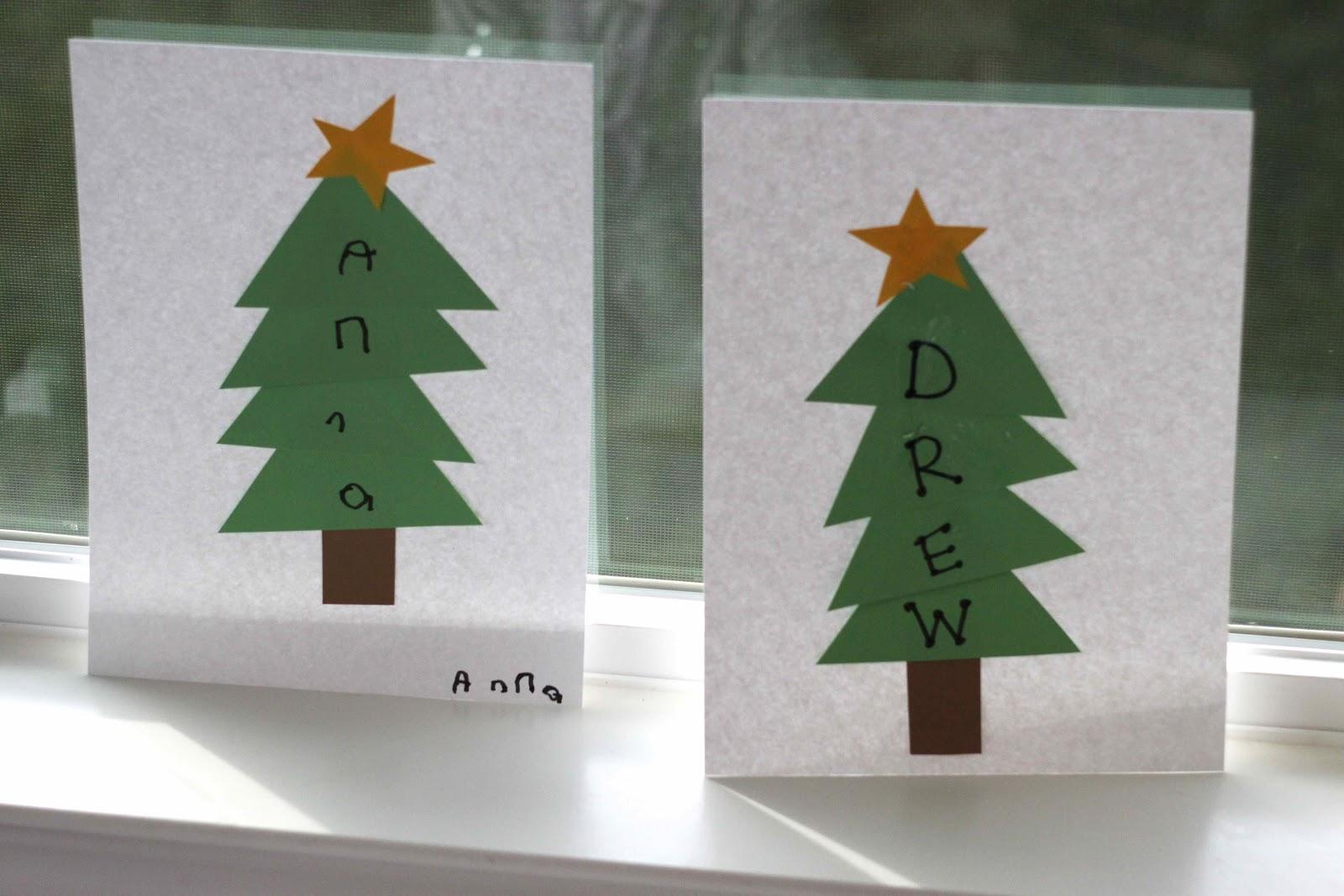 Playing House: Christmas Tree Name Craft
