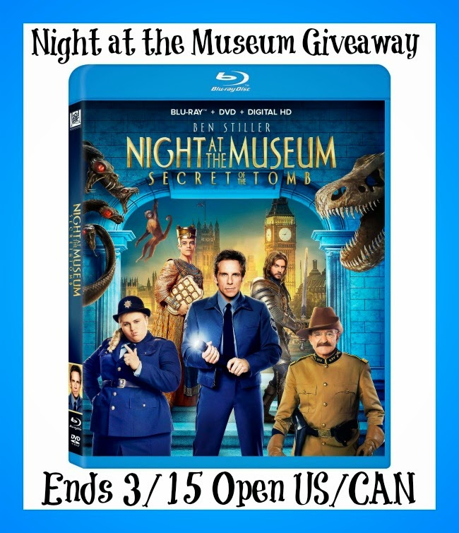 Night at the Museum Blu-Ray + DVD + Digital HD Giveaway