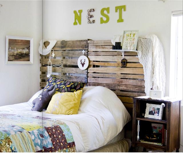 Not for boring decorando con palets y cajas de madera - Cabecero palets ...
