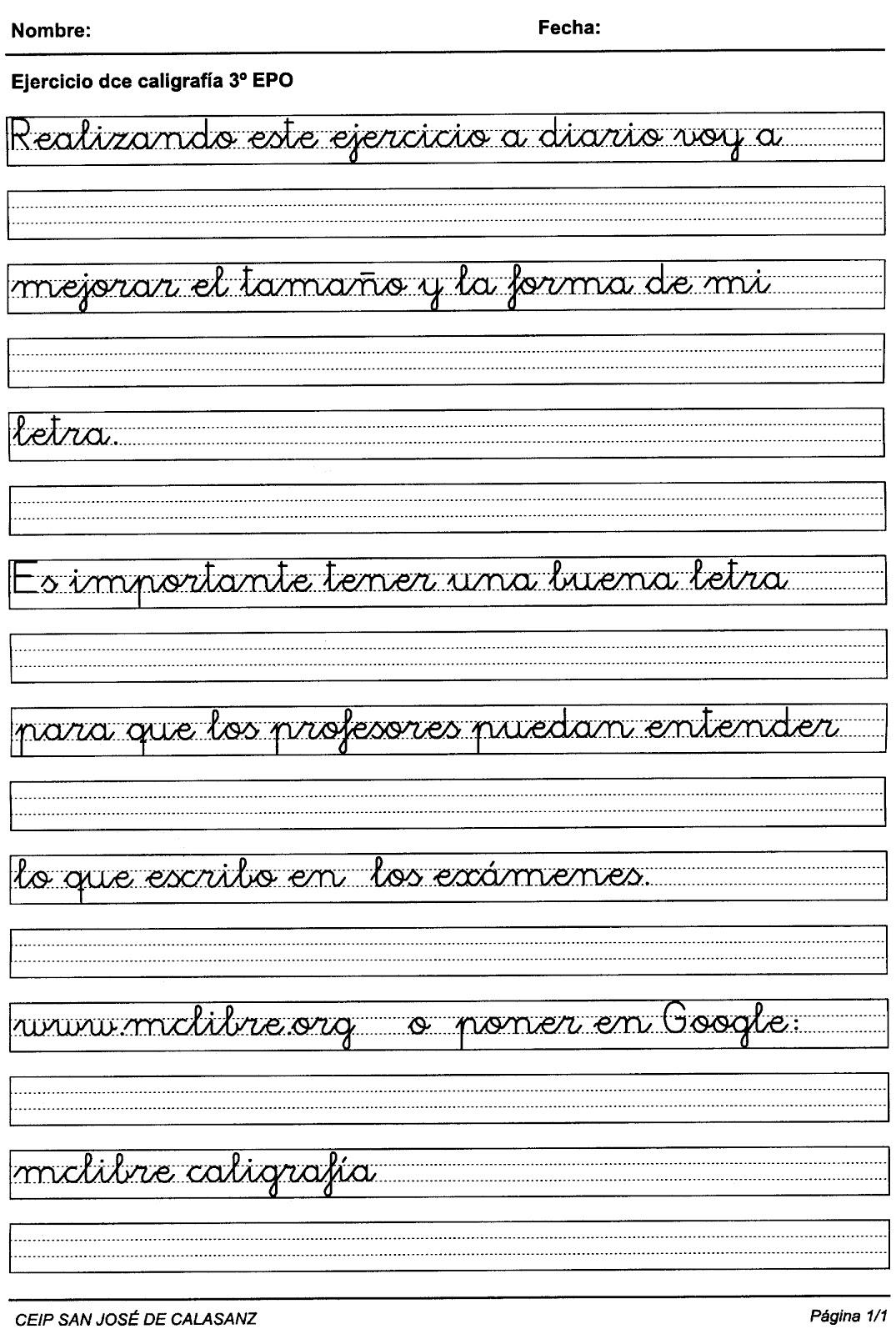 Blog de rayas en tercero a mejorar la letra - Como mejorar la caligrafia ...