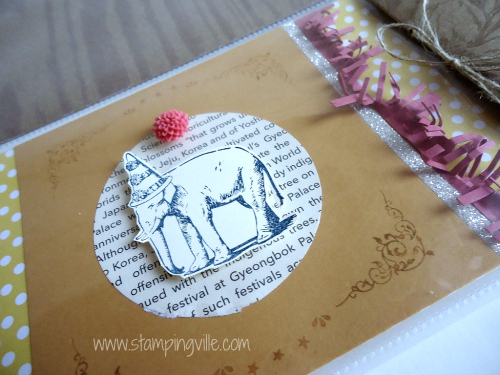 Vintage Style Elephant with Party Hat