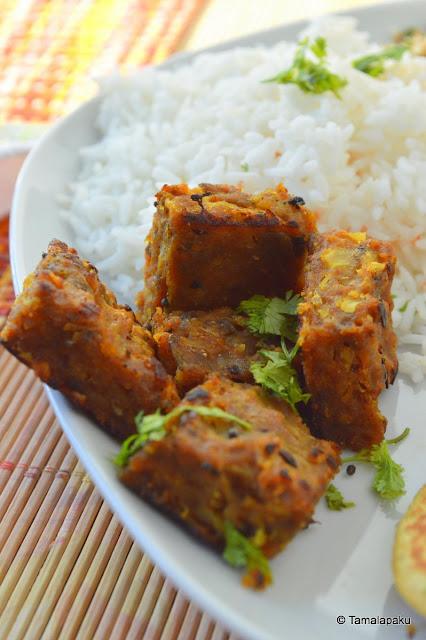 Kobi Wadi ~ Steamed Cabbage Cutlets