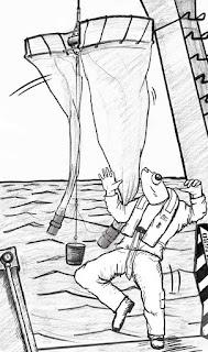 Viñeta del cómic de divulgación científica, Expedición Malaspina CSIC