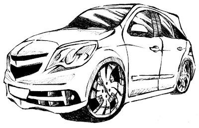 Desenhos Para Colorir Carros  tunado fusca agile