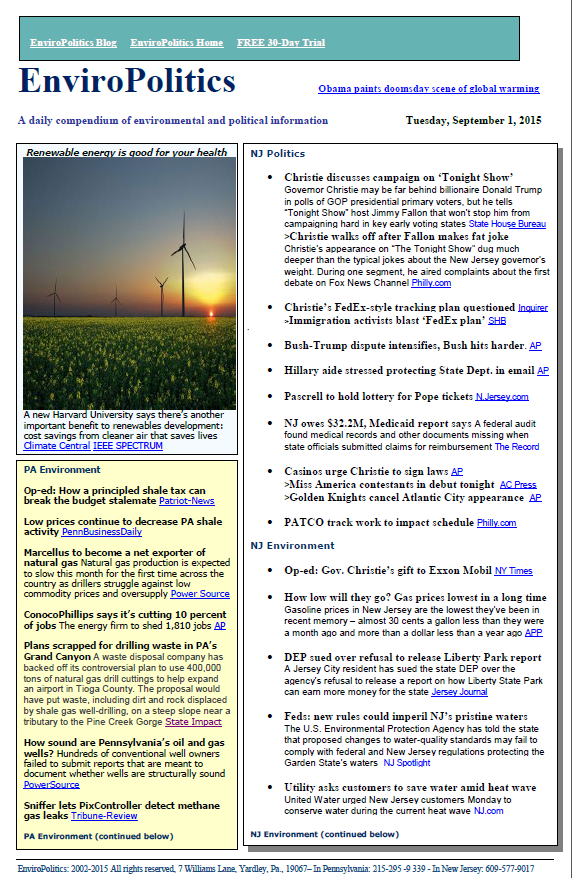 Serious about energy and environment news & issues?