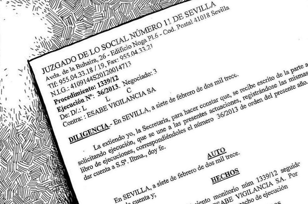 Sindicato profesional de vigilantes sevilla el juzgado for Juzgado seguridad social
