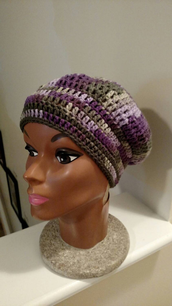 Crochet Purple Hat