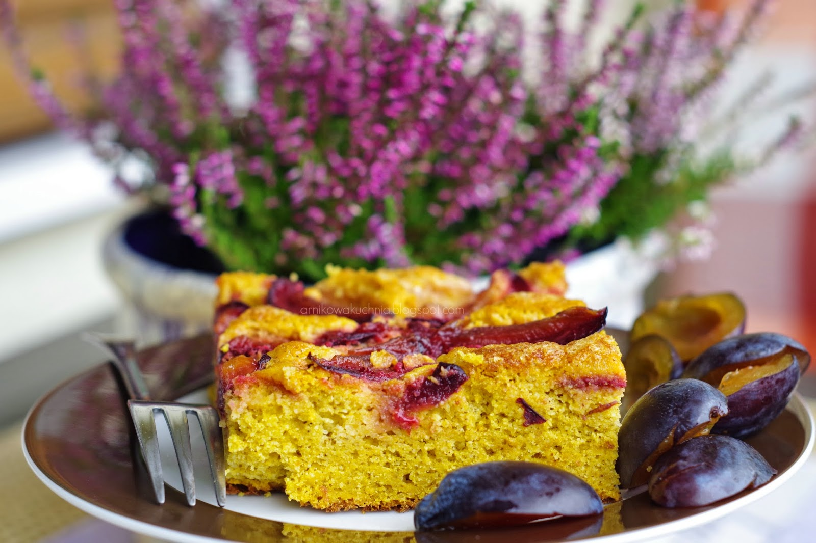 Arnikowa Kuchnia Dyniowe Ciasto Ze śliwkami Bez Glutenu