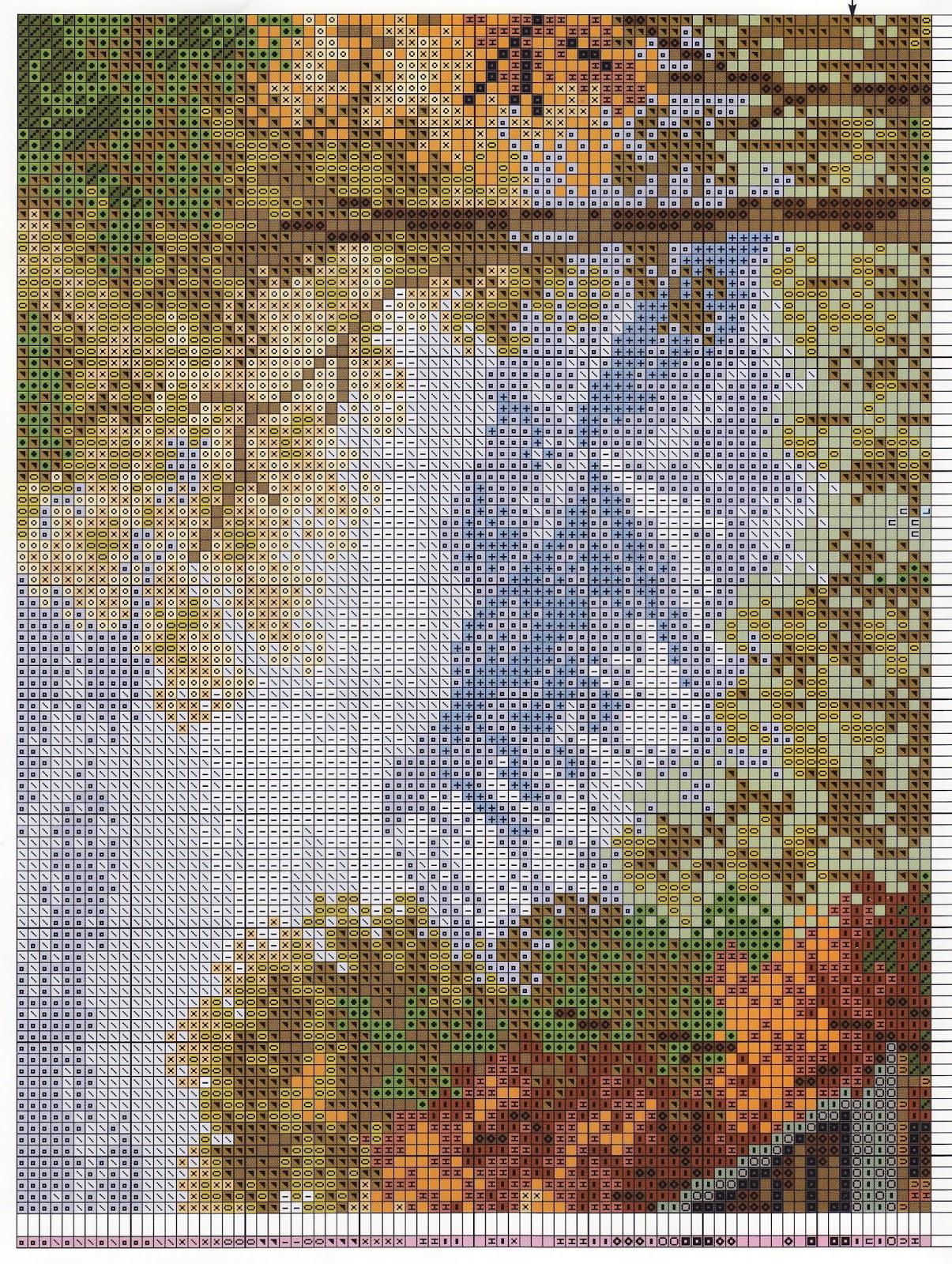 Схема вышивки риолис пейзажи 6