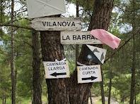 Separació de caminades a la cruïlla de Vilanova