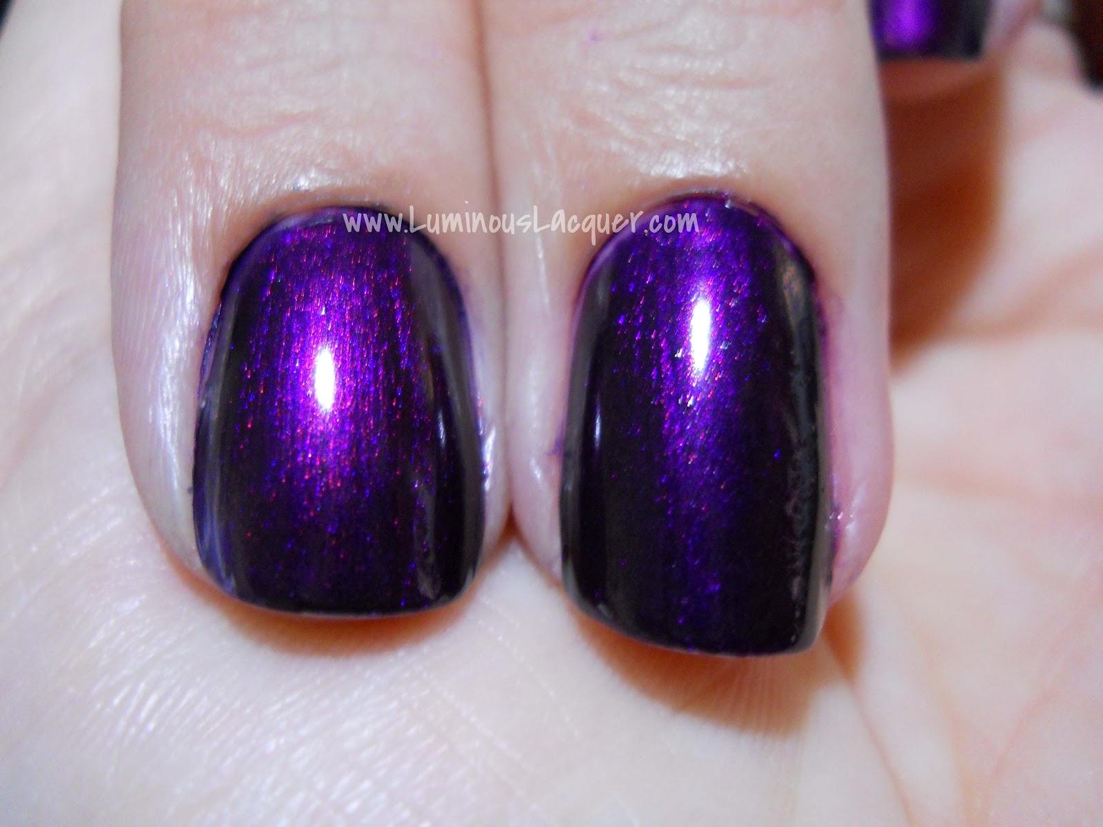 Luminous Lacquer: Illamasqua Baptiste ~VS~ NARS Purple Rain