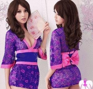 Jual Baju Tidur Kimono Lingerie Transparan