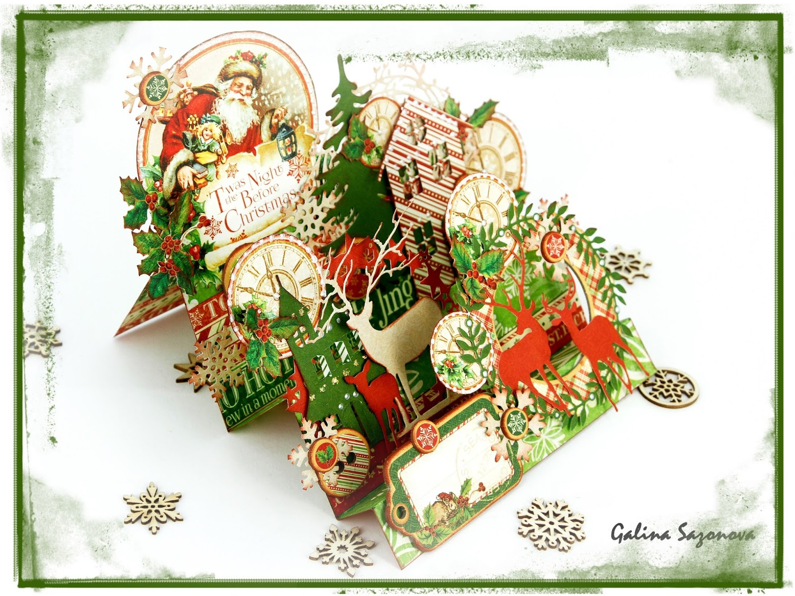 Формы новогодней открытки с