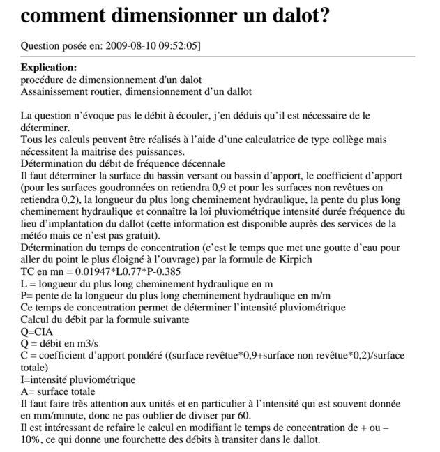 Proc dure de dimensionnement d 39 un dalot cours for Assainissement cours pdf
