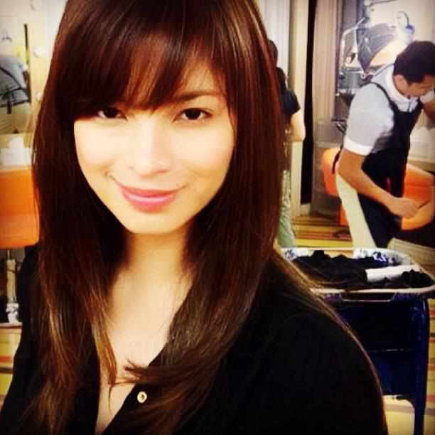 New Look Haircut Style : Angel Locsin Sports a New Hairstyle-Dennis Trillo and Angel Locsin ...