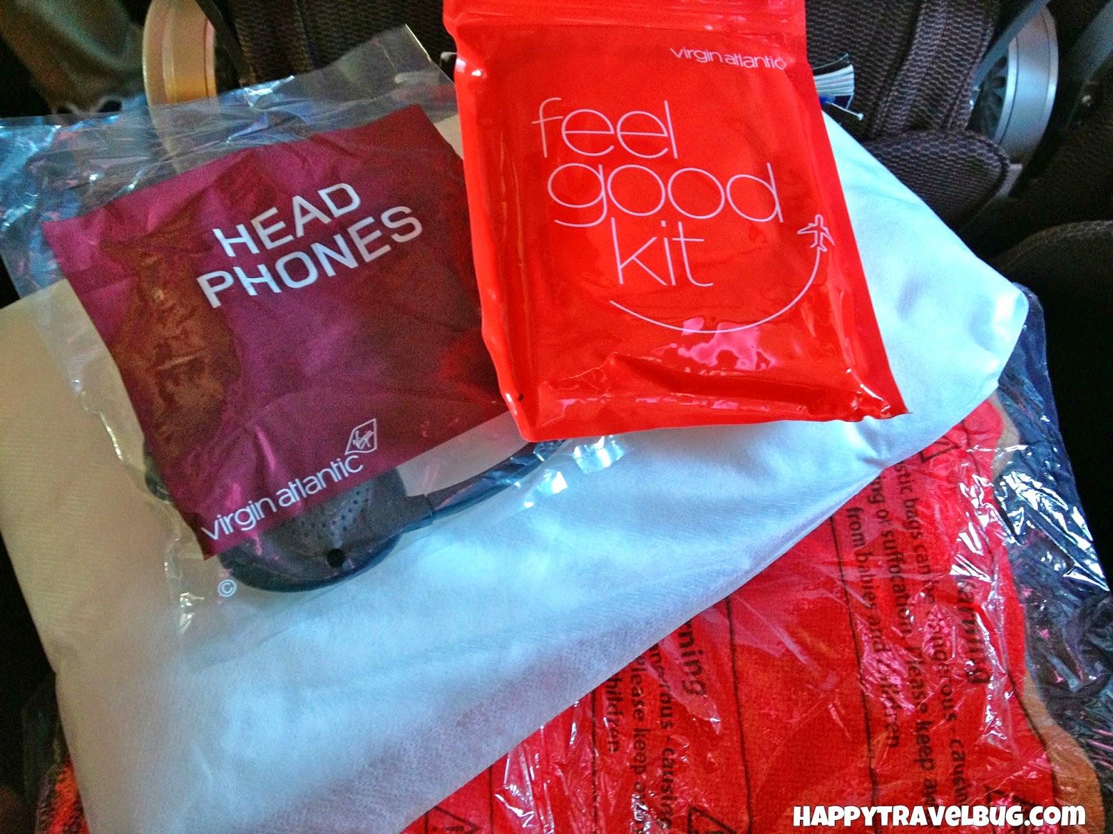 Goody bag on virgin atlantic airlines