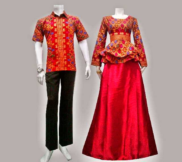Gambar Baju Couple Batik Songket 2016