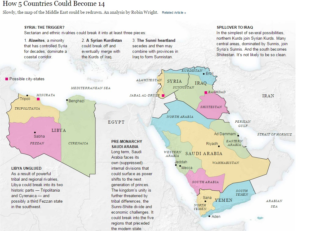 a remapped middle east