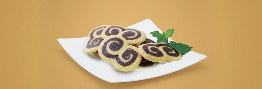 Resep Kue Kering Gulung Vanilla Coklat