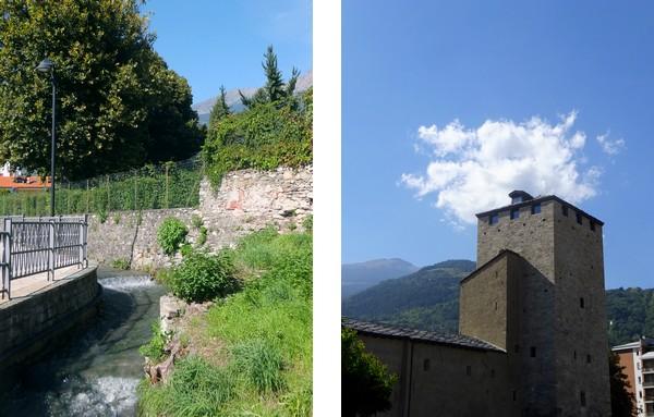 Aoste Aosta Italie rue tour bailly