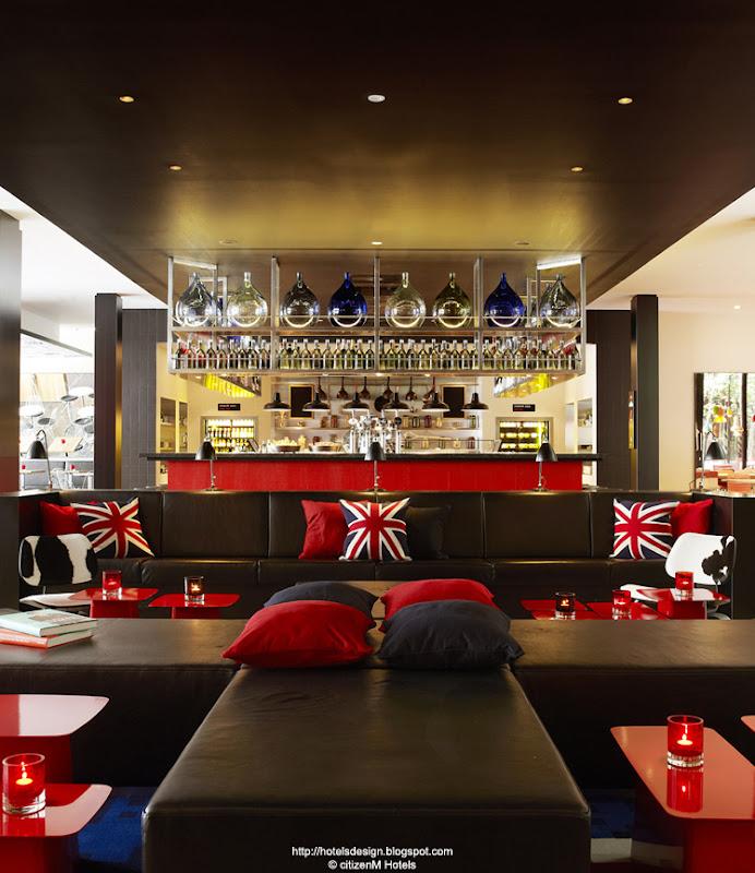 Les plus beaux hotels design du monde h tel citizenm london bankside by concrete architectural - Design hotel citizenm london ...