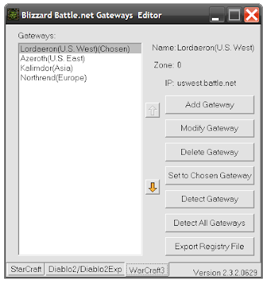 Blizzard Battle.net Gateways Editor